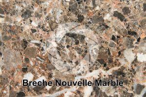 Breche Nouvelle Marble. Lapalme. France. Polished section