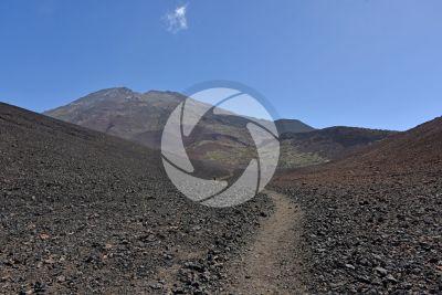 AA lava. Teide. Tenerife. Canary Islands. Spain
