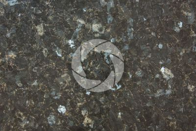 Emerald Pearl Granite. Vestfold. Norway. Polished section