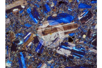 Conglomerate. Thin section in cross polarized light. 32X