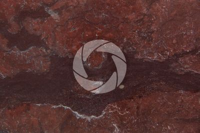 Red Arizona Travertine. Turkey. Polished section
