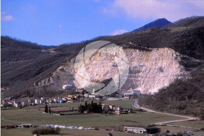 Marble. Quarry. Zandobbio. Lombardy. Italy