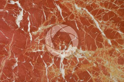 Rosso Alicante Marble. Valencia. Spain. Polished section