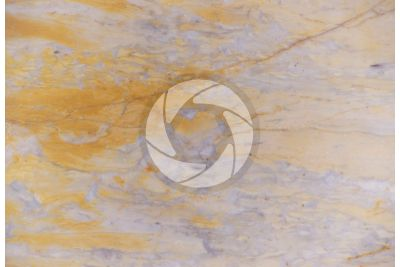Giallo Siena Marble. Toscana. Italy. Polished section