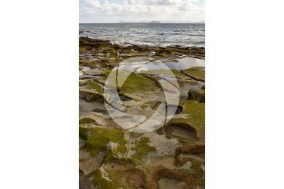 Erosione costiera. Lanzarote. Isole Canarie. Spagna