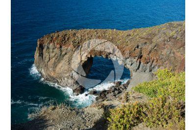 Coastal erosion. Pollara. Aeolian Islands. Sicily. Italy