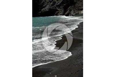 Black beach. La Palma. Canary Islands. Spain