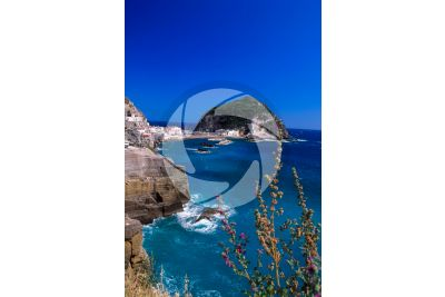Cliff. Sant'Angelo. Ischia. Phlegraean Islands. Campania. Italy