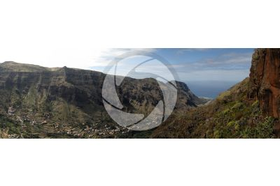 Gully. La Gomera. Canary Islands. Spain