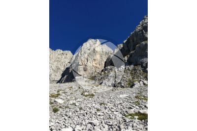 Scree. Monte Presolana. Lombardy. Italy