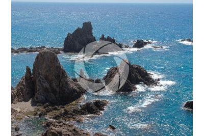 Faraglione. Cabo de Gata. Nijar. Andalusia. Spagna