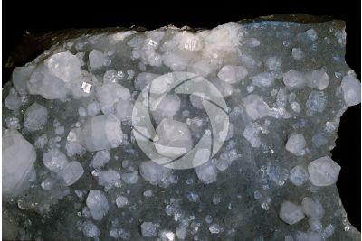 Apophyllite on Quartz