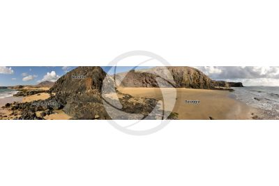 Basalto. Lanzarote. Isole Canarie. Spagna