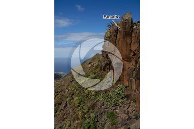 Basalto. La Gomera. Isole Canarie. Spagna