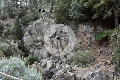 Basalto. Piedra de la Rosa. Tenerife. Isole Canarie. Spagna