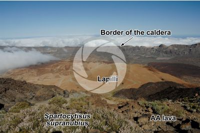 Lapilli. Tenerife. Canary Islands. Spain