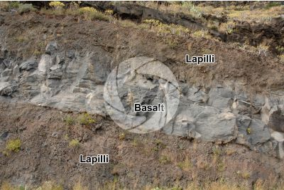 Lapilli. Pyroclastic rock. Tenerife. Canary Islands. Spain