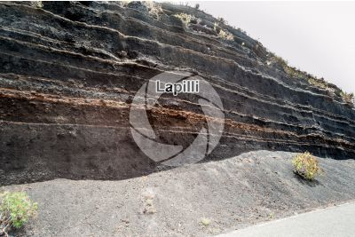 Lapilli. Pyroclastic rock. Gran Canaria. Canary Islands. Spain