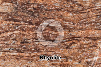 Rhyolite. Polished section. 1X