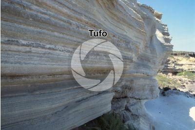 Tufo. Sardegna. Italia