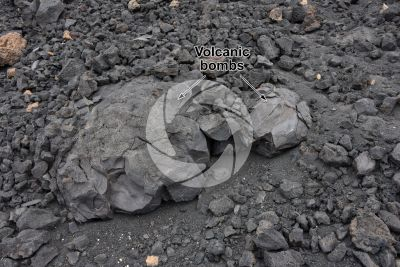Volcanic bomb. Tenerife. Canary Islands. Spain