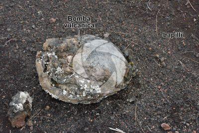 Bomba vulcanica. La Palma. Isole Canarie. Spagna
