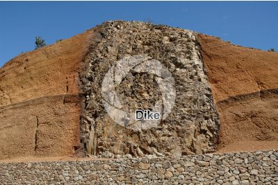 Dike. Tenerife. Canary Islands. Spain