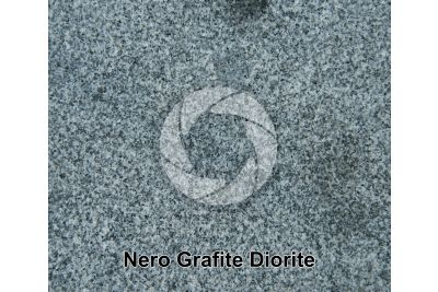 Nero Grafite Diorite. Piedmont. Italy. Polished section. 1X