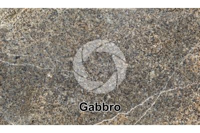 Gabbro. Costa Rica. Polished section. 1X