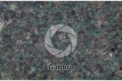 Gabbro. Siberia. Polished section. 1X