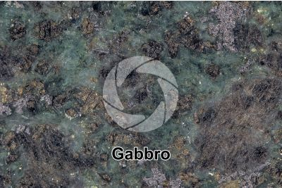 Gabbro. Siberia. Polished section. 2X