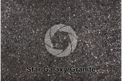 Star Galaxy Granite. Andhra Pradesh. India. Polished section