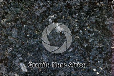 Granito Nero Africa. Sudafrica. Sezione lucida. 2X