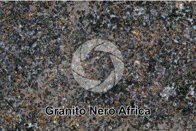 Granito Nero Africa. Sudafrica. Sezione lucida. 1X