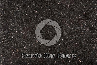 Granito Star Galaxy. Andhra Pradesh. India. Sezione lucida