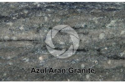Azul Aran Granite. Catalonia. Spain. Polished section