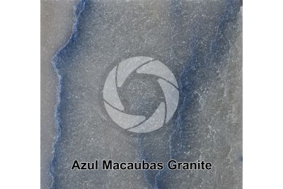Azul Macaubas Granite. Bahia. Brazil. Polished section. 1X