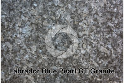 Labrador Blue Pearl GT Granite. Larvik. Norway. Polished section