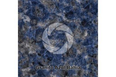 Granito Azul Bahia. Bahia. Brasile. Sezione lucida. 1X