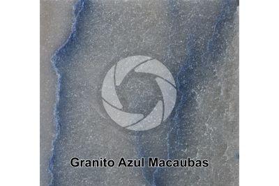 Granito Azul Macaubas. Bahia. Brasile. Sezione lucida. 1X