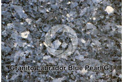 Granito Labrador Blue Pearl GT. Larvik. Norvegia. Sezione lucida. 1X
