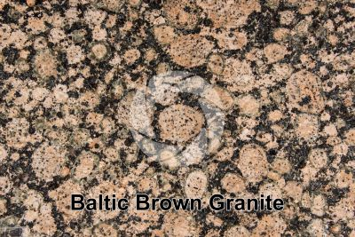 Baltic Brown Granite. Finland. Polished section