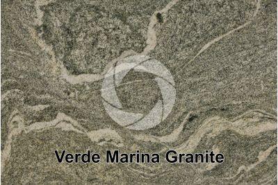 Verde Marina Granite. Andhra Pradesh. India. Polished section