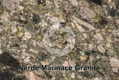 Verde Marinace Granite. Bahia. Brazil. Polished section