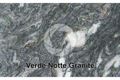 Verde Notte Granite. Polished section