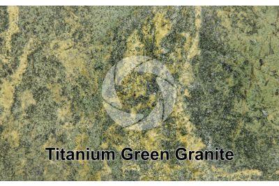 Titanium Green Granite. Brazil. Polished section