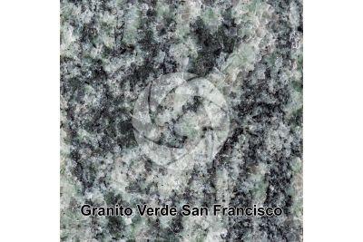 Granito Verde San Francisco. Minas Gerais. Brasile. Sezione lucida. 1X