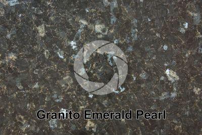 Granito Emerald Pearl. Vestfold. Norvegia. Sezione lucida
