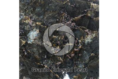 Granito Emerald Pearl. Vestfold. Norvegia. Sezione lucida. 1X
