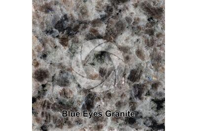 Blue Eyes Granite. Labrador. Canada. Polished section. 1X
